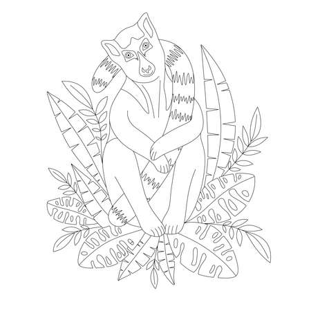 COLORING BOOK WITH HUMMINGBIRDS AND FLOWERS ON A WHITE BACKGROUND Vettoriali