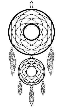 DREAM CATCHER ON A WHITE BACKGROUND IN VECTOR