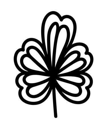 BEAUTIFUL FLOWER ON A WHITE BACKGROUND IN VECTOR 矢量图像