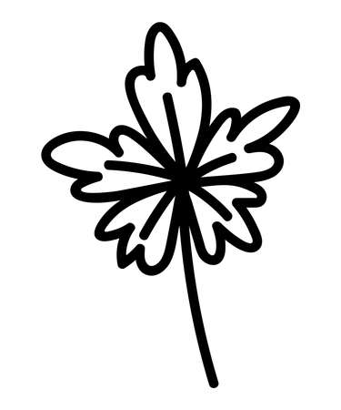 STYLIZED LEAF ON A WHITE BACKGROUND IN VECTOR