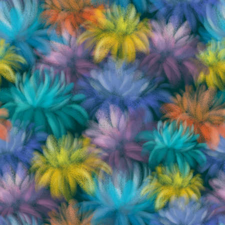 BRIGHT COLORFUL FLOWERS ON AN EMERALD BACKGROUND