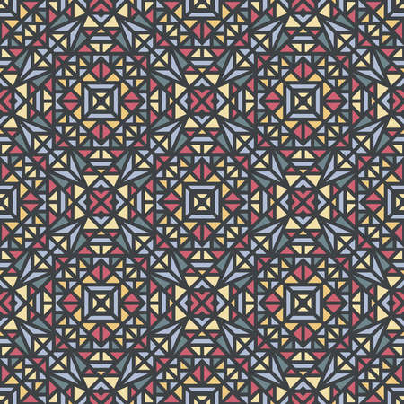 Seamless pattern with a small geometric ornament on a gray background in the vector