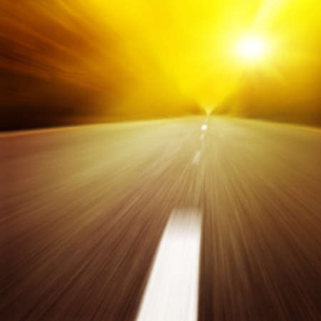 Motion blurred road at twilight. Stock Photo - 11646015