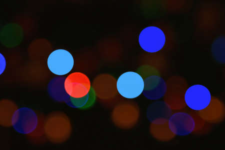 Colorful defocused lights.