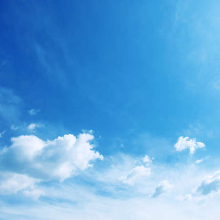 White clouds in blue sky.  photo