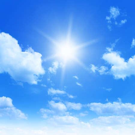 blue ray: Sun in blue sky.