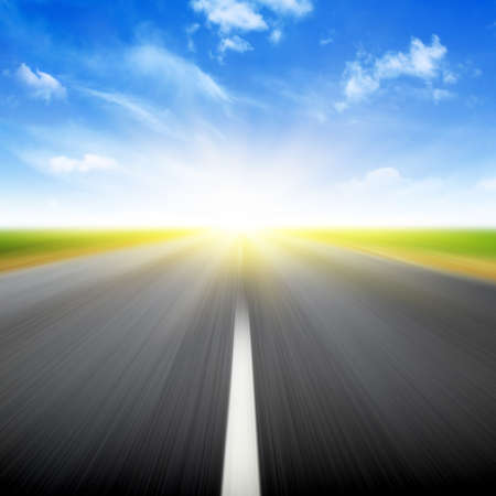 Road in motion blur. Stock Photo - 13249879