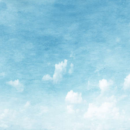 blue toned: Grunge image of blue sky. Stock Photo