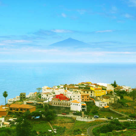 Landscape of Canary island.View of the volcano.