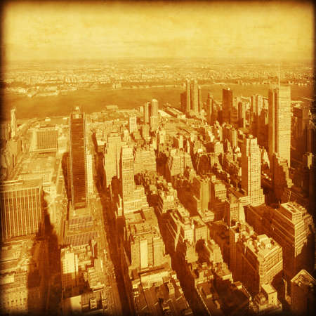 Aerial vview of New York City Old style image  Stock Photo - 21574104