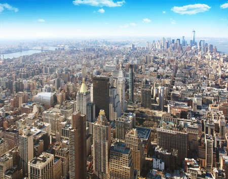 midtown: Aerial view of New York city