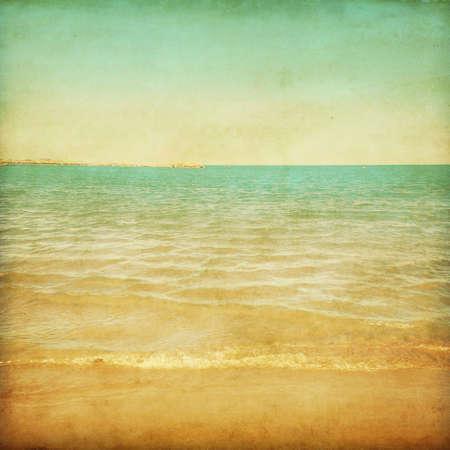 Grunge style photo of seascape