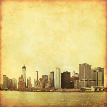 New York City skyline in grunge and retro style. Stock Photo - 21911307