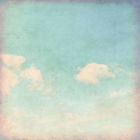 сбор винограда: Grunge фоне голубого неба.