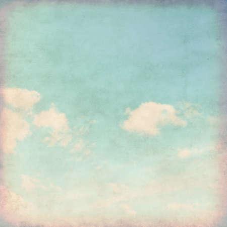 vintage: Grunge fundo de céu azul.