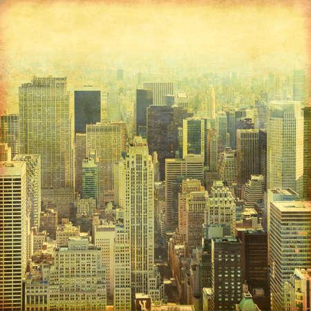 New York City Manhattan skyline.Grunge and retro style. Stock Photo - 22088124