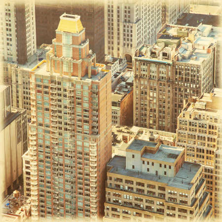 New York City Manhattan aerial view in retro and grunge style. Stock Photo - 22413965