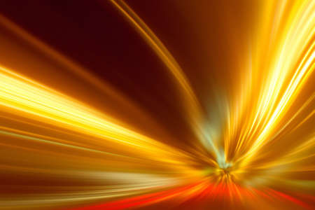 Abstract image of speed motion on the road at night time. Stock Photo - 22414174