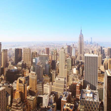 ニューヨーク市の航空写真ビューのイメージ 写真素材