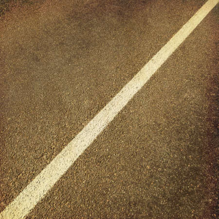 Background of asphalt road in grunge and retro style  photo