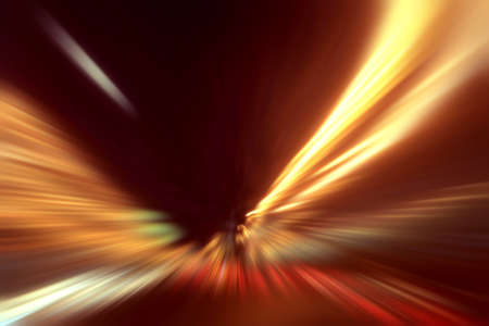 Abstract image of speed motion on the road at night time  photo