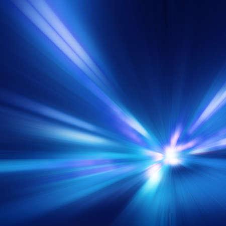 Immagine astratta di movimento di velocità sulla strada al crepuscolo. Archivio Fotografico - 28075074