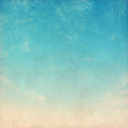 Blue sky in grunge and retro style.
