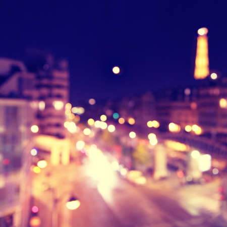 Defocused lights of night Paris  photo