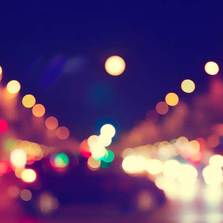 Światła: Abstrakcyjny obraz bokeh światła w mieście Zdjęcie Seryjne