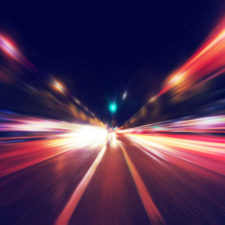 exposure: Abstract image of night traffic in the city