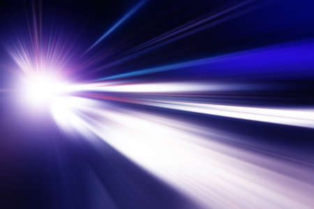 speed line: Abstract image of night lights with motion blur in the city. Stock Photo