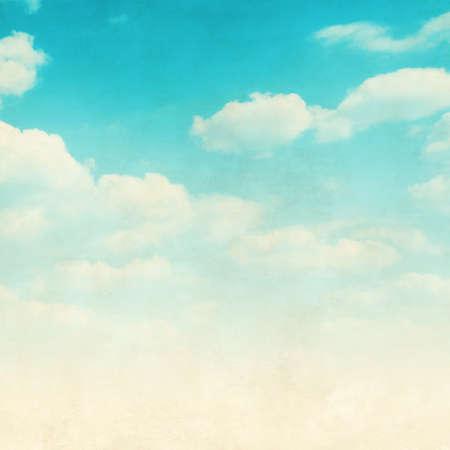 himmel wolken: Grunge Bild der blaue Himmel mit Wolken. Lizenzfreie Bilder