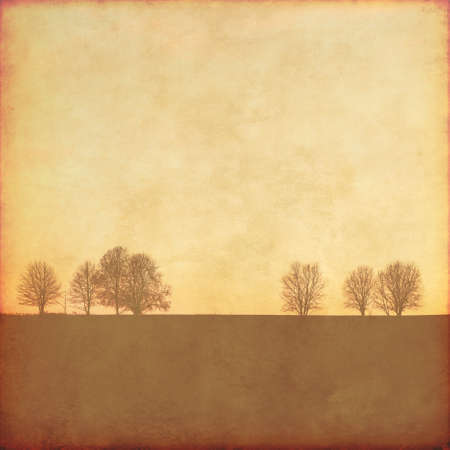 green hills: Grunge background with trees.