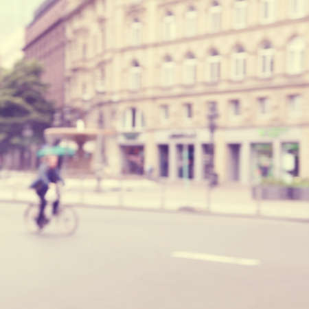 colores pastel: Imagen borrosa de escena urbana abstracta.