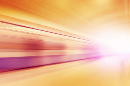 blur subway: Abstract image of train in motion blur in subway station.