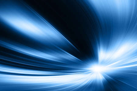 Abstract blurred speed motion in tunnel.