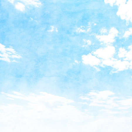 himmel hintergrund: Blue sky with white clouds in grunge style.