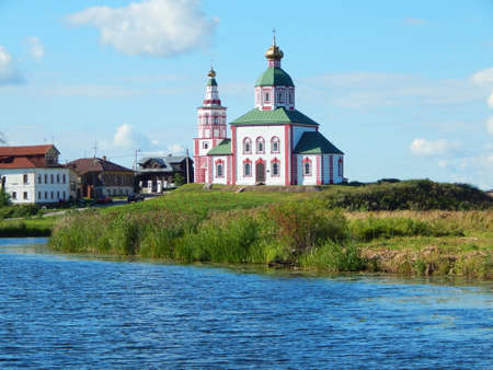 The Church of Elijah the Prophet Ivanova on the mountain or Elias Church. The Church in Suzdal in the bend of the Kamenka river. Built in 1744. The shot was made in August, 2015.