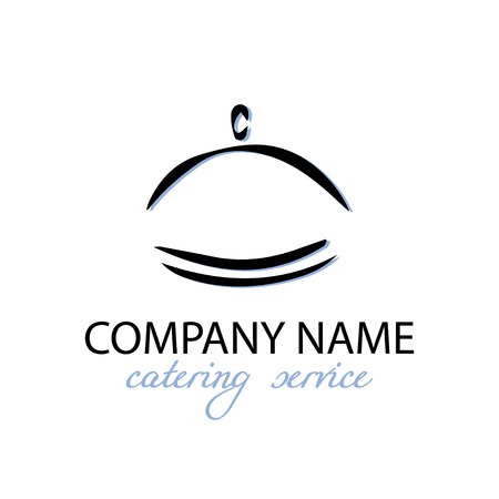 Kitchen, restaurant and catering theme. Template for icon design with graphic element.
