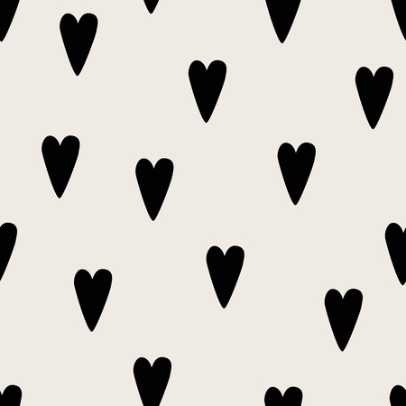 Seamless dark red heart pattern. Love vector background.