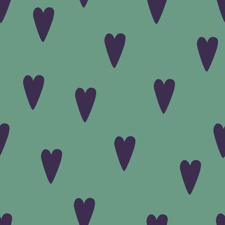 Seamless dark red heart pattern. Love vector background.