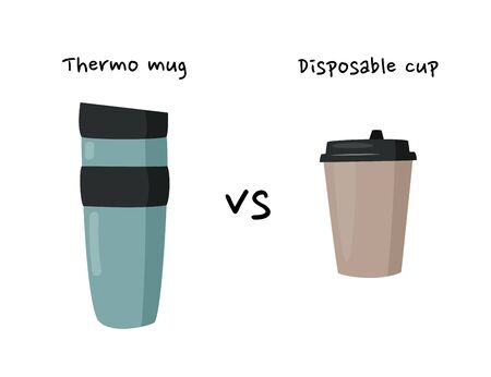 Mug vs disposable cup for hot drinks.