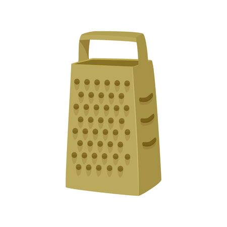 Simple grater vector illustration. Isolated on white background.