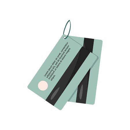 Hotel key card. Vector illustration. Magnetic security lock for doors.