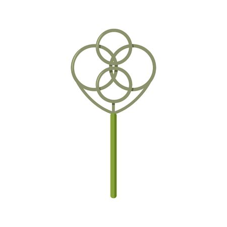 Home cleaning tool isolated on white background. Simple green carpet beater vector illustration.