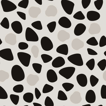 Abstract seamless pattern. Simple black shapes background. Ilustrace