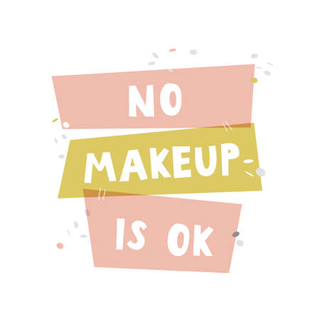 No makeup is ok. Lettering colorful design for posters, t-shirts, cards, stickers, banners, advertisement and others uses. 矢量图像