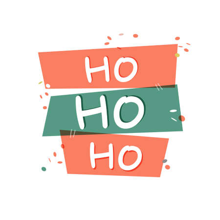 Ho Ho Ho vector lettering hand drawn typography card. Simple Christmas poster.