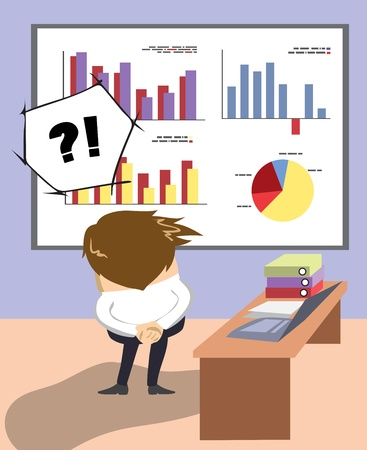 Picture from series Job and people - person reflect about solving of problem Stock Vector - 21952194