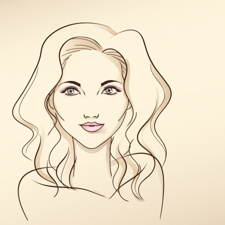 Portrait of the beautiful young blonde with blue eyes. Stock Vector - 23257870